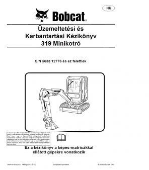 BOBCAT 319 kezelési útmutató