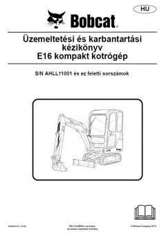 BOBCAT E16 kezelési útmutató