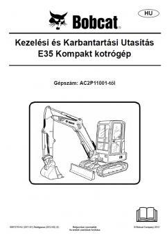 BOBCAT E35 Tier 4 kezelési útmutató