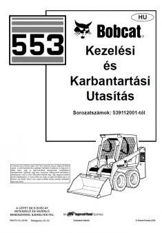 BOBCAT 553 kezelési útmutató