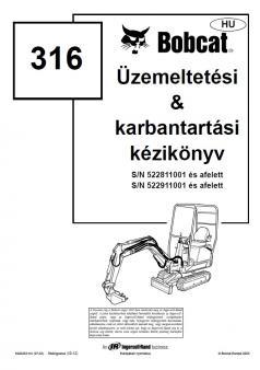 BOBCAT 316 kezelési útmutató