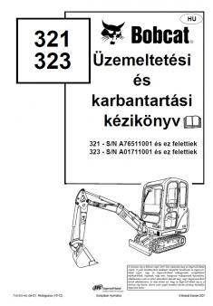 BOBCAT 321 kezelési útmutató