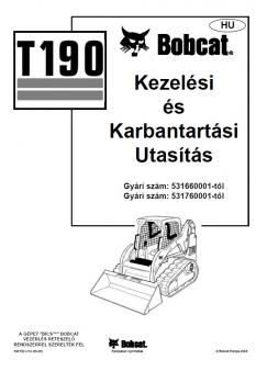 BOBCAT T 190 [H] kezelési útmutató