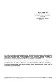 DOOSAN DX 190 W kezelési útmutató