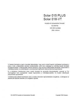 DOOSAN Solar 015 Plus kezelési útmutató
