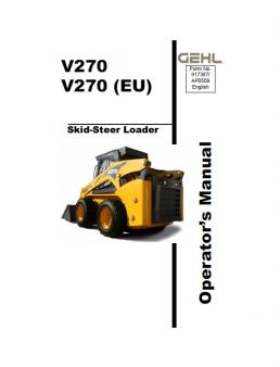 GEHL V270 kezelési útmutató