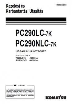 KOMATSU PC 290 LC-7 kezelési útmutató