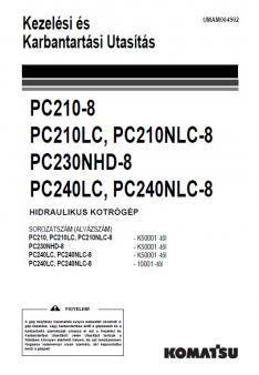 KOMATSU PC 240 LC-8  Tier 3 kezelési útmutató