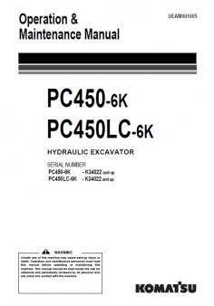 KOMATSU PC 450-6 Active kezelési útmutató