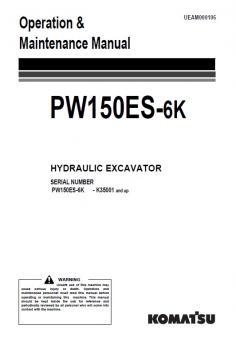 KOMATSU PW 150 ES-6 Active kezelési útmutató